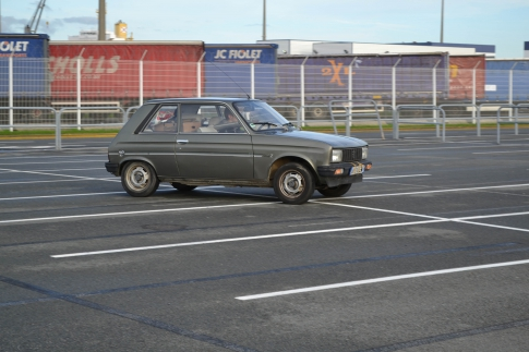 Thomas Leach - First drive of my 104 in the port car park.