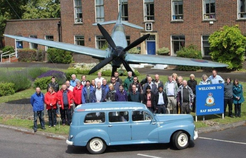 CPUK Members at RAF Benson en-route to the Millbrook Proving Ground and the Shuttleworth Collection