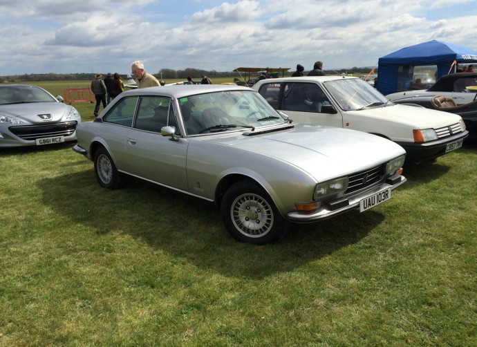 504 Coupe on CPUK stand at Bicester Heritage - Drive-It-Day