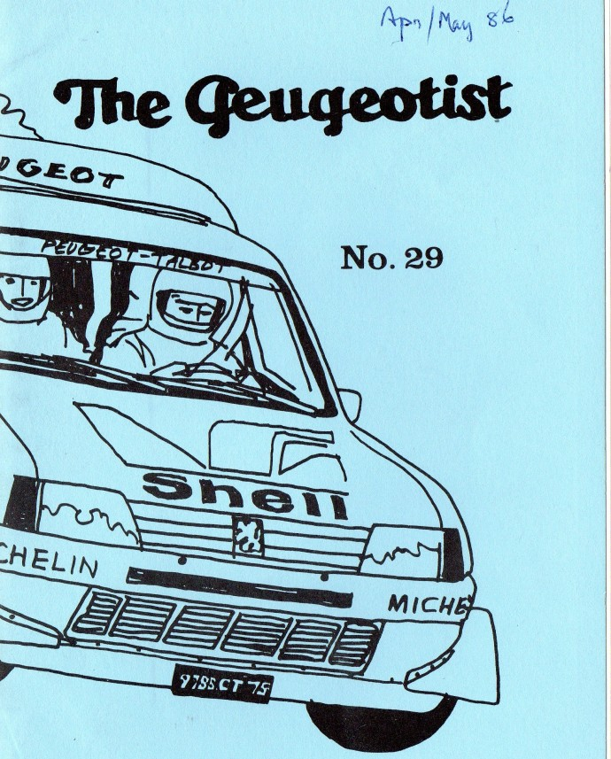 The Pugeotist issue 29 cover