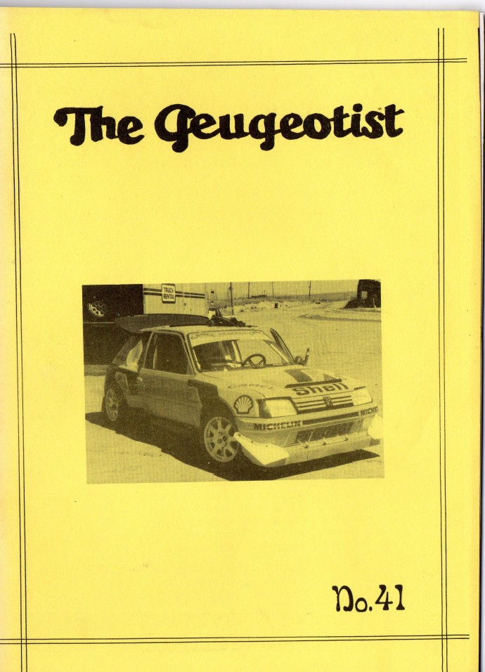 The Pugeotist issue 41 cover