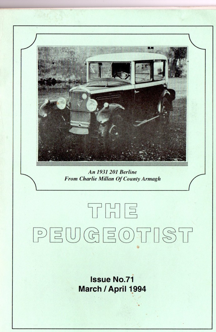 The Pugeotist issue 71 cover
