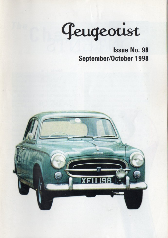 The Pugeotist issue 98 cover